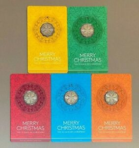 2019 Merry Christmas Decoration Card - 50 Cent Coin Full Set