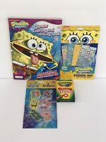 4 SpongeBob Square Pants Jumbo Coloring & Activity Book Stickers Crayons Erasers