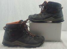 KEEN Men's Gypsum II Mid Waterproof Hiking Boot Black Orange Size 11.5