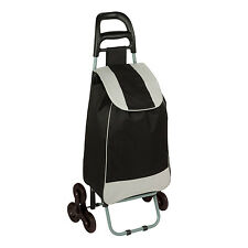 Rolling Fabric cart with Tri-Wheels in Black # CRT-03933 by Honey Can Do