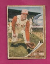 1962 TOPPS # 508 REDS GORDY COLEMAN  HIGH # GOOD CARD (INV# A4784)
