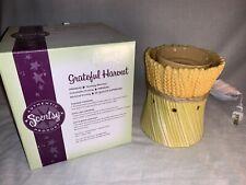 Scentsy Grateful Harvest Wheat Premium Full Size Fall Wax Warmer Retired Unused