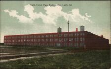 New Castle IN Krell French Piano Factory c1910 Postcard