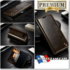 Etui Coque housse Cuir BROWN Oil Wax Leather Case Cover pour gamme iphone (All)