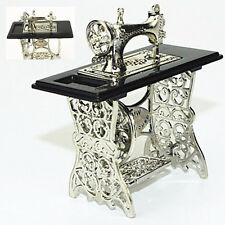 Vintage Metal Sewing Machine Table Furniture 1:12 Dollhouse Miniature Home Decor