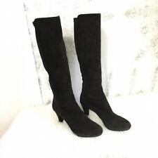 Stuart Weitzman Womens sz 7 Suede Platform Stretch Knee High Leather Boots Heels