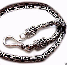 Byzantine 2.5 mm Bali Chain Sterling Silver 925 Necklaces Jewelry Gift 16""
