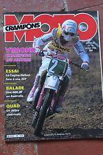 MOTO CRAMPONS N°18 CAGIVA 650 ELEFANT HONDA XLV 750 YAMAHA XT 600 KTM 500 1986