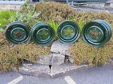 LAND ROVER SERIES BRONZE GREEN REFURBISHED WHEELS - EXCHANGE SET OF 4