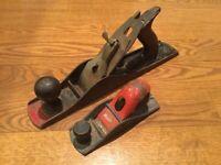 Antique or Vintage Stanley Wood Tool Plane Set Lot of 2