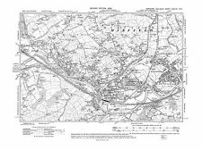 Old OS map of Mirfield in 1908 - Yorkshire, repro 247-NW
