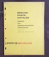 Vtg Sperry New Holland Equipment Parts Catalog Illustrated 707 Forage Harvester