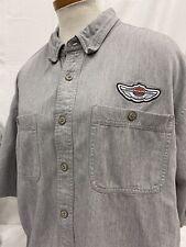 Harley Davidson Men's Short Sleeve Button Down Motorcycle Shirt Size XL 100 Year