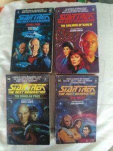 4x Star Trek TNG The Next Generation Books Job Lot. War Drums Strike Zone