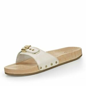 Scholl Pescura Flat Sporty Exercise Sandals - White