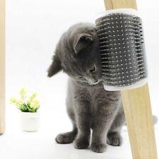 Mountable Pet Cat Self Grooming Fur Brush Scratcher Catnip Comb Massager