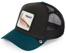 Goorin Bros. Animal Farm Trucker Baseball Snapback Hat Cap Trout Fish Green def77e1a5ad0
