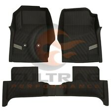 2015-2019 GMC Canyon Extended Cab GM Front & Rear All Weather Floor Liners Black