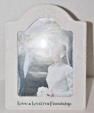 "RUSS Wedding or Anniversary White Ceramic Photo Frame/Gift 5x7"" - New"