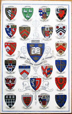 1910 Oxford Postcard: Arms of the Colleges of Oxford - Crests/Seals