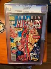 cgc 8.5 Graded New Mutants 98 1st Appearance Of Deadpool Marvel Comics