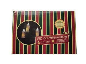 Merxx LED Kerzen-Lichterkette 20 LED´s dick warmweiß Weihnachtsdeko innen 83026