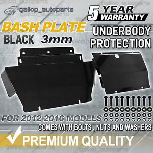 For Holden Colorado RG 2012-2016 Bash Plate Front & Sump Guard Black