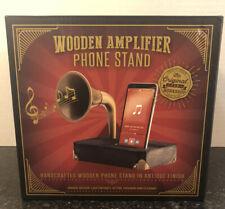 TheOriginalFunWorkshop: Handcrafted Wooden Amplifier Phone Stand(Antique Finish)