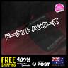 Donut Hunters Japanese Katakana 400x50mm Sticker Decal Vinyl For JDM Window Car