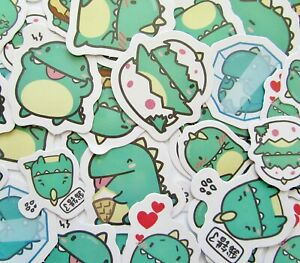 Star Moly green dragon funny cute kawaii kitsch coated paper sticker pack