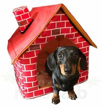 WIWO Brick Motif Miniature Mini Dachshund Pet House Dog Bed Cat Bed Dog House
