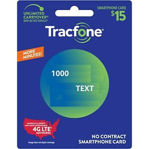 TracFone 1,000 Texts Message Refill Add On,  Direct Load/No physical card