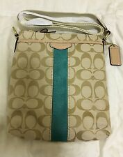 Authentic Coach Signature Stripe Swingpack Crossbody Shoulder Bag F50600