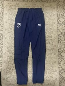 West Ham United FC Woven Tracksuit Bottom Pants Bnwt Size Small Men's Fast Post