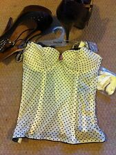 Intimas DM Basque Lingerie yellow Black Dotted UK 30 D