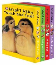 Bright Baby Touch & Feel Boxed Set: On the Farm, Baby Animals, At the Zoo and Pe