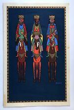 Eduardo Vera Cortes Cartel Serigraph Christmas Reyes Mago Navidad 78 Puerto Rico