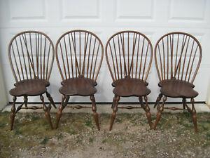Vintage D. R. Dimes Brace-Back Windsor Chairs