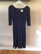 D&G Women's Dress Black Size 42 Corset Detail Waist 100% Authentic!