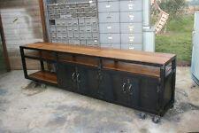 Enfilade meuble  industriel bois & métal loft tendance vintage