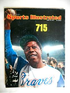 Vintage Hank Aaron Apr.,15,1974 Cover of Sports Illustrated 715 Home Run King