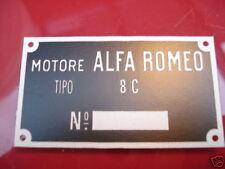 Alfa Romeo Id Nameplate Motors 8c 8 C