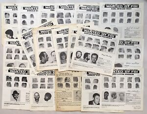 28 FBI ORIGINAL Wanted Notice / Posters 1970s Very Good Condition