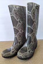 CALVIN KLEIN - Women's Size 6M Rubber Rain Boots - Kirsten Snake Print