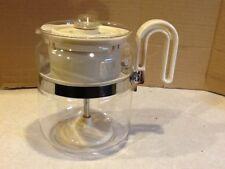 Vintage Gemco Coffee Pot Maker Glass Percolator Off White USA 4-8 cups