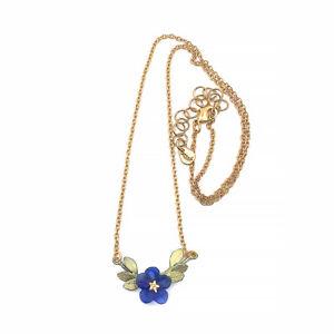 Blue Violets Necklace By Michael Michaud  #9344
