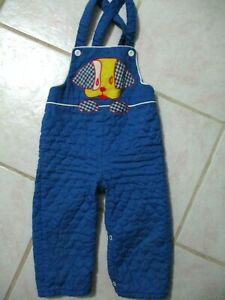 Vtg Toddler Boy Embroidered Puppy Quilted Romper Sz 24 Mths USA