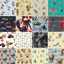 100% Premium Cotton Fabric DC Comics, DISNEY  Batman, Superman, Mickey Mouse