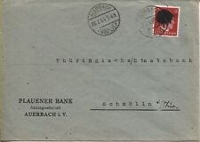 Locale/sächs. annerimento Banca lettera Auerbach AP 827 i OPD Chemnitz richiesta (b06370)