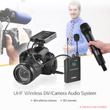 DSLR Camera Dual Channel Wireless Microphone System for Interview Recording M7Q2